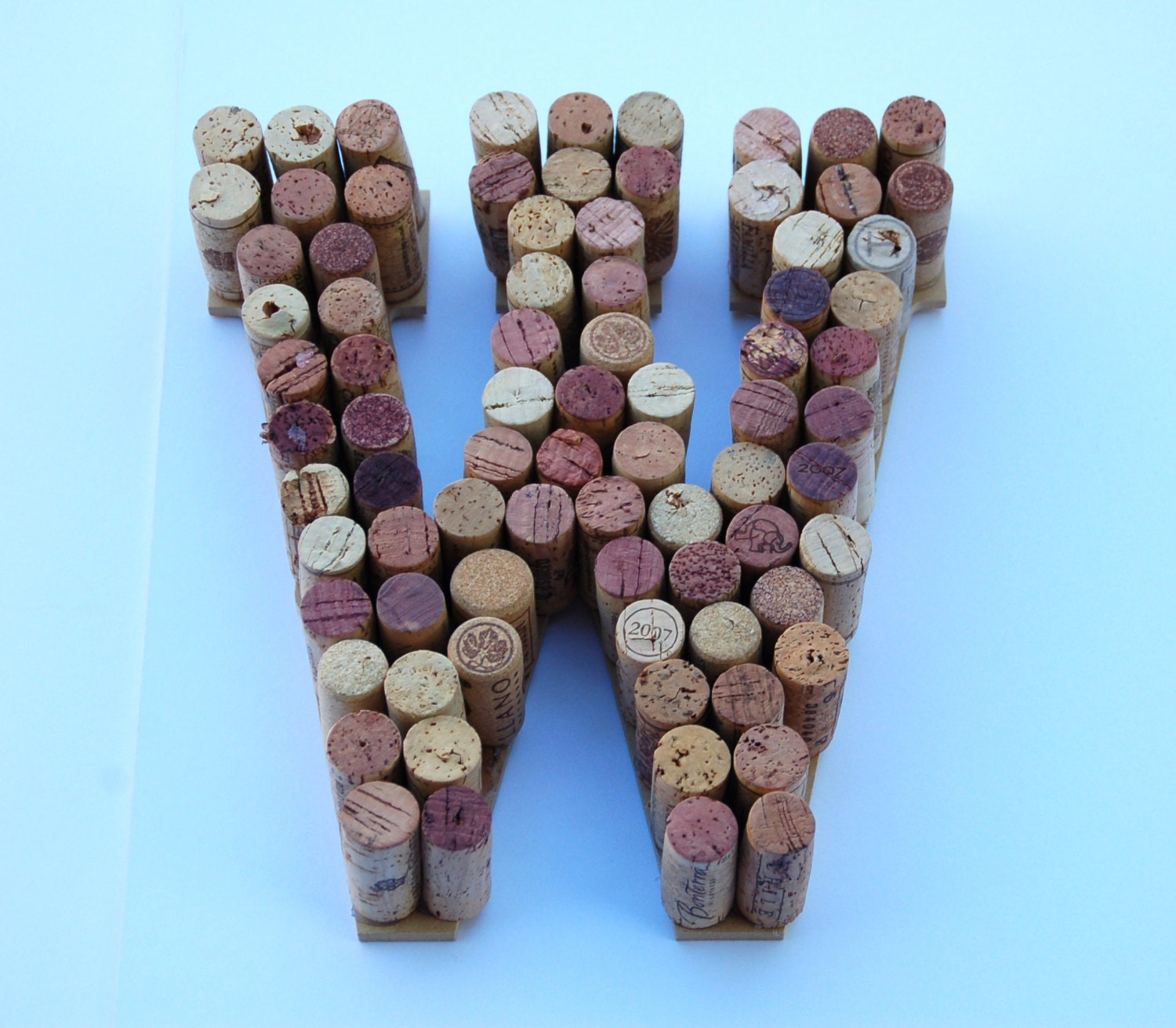 Real Weddings Cork: 10 Wine Cork Letters W. Made From Real Wine Corks