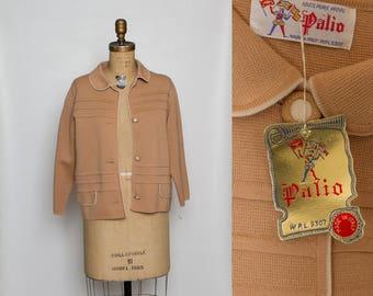 vintage 1960s wool cardigan sweater   NWT deadstock