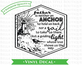 Nautical Father Dad Hipster Father's Day VINYL DECAL