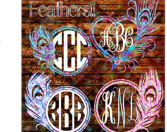 Peacock Feather Decal,Yeti Decals,Monogrammed Yeti,Feather Stickers,Yeti Decal,Customized Yeti,Personalized yeti,Sale,Peacock feathers,Sale