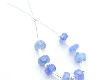 Tanzanite  Faceted Rondelle Beads  | Natural 100% Tanzanite Gem Stone  | Charming beads | Brass smith Jewelry| Designer Beads | Tanzanite