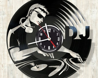 DJ vinyl record wall clock best eco-friendly gift for any occasion