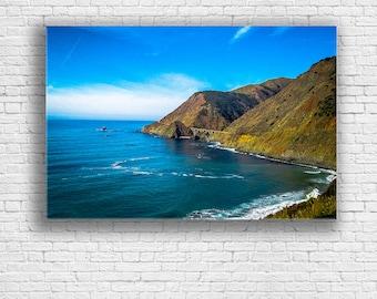 Big Sur Canvas   Pacific Ocean Gallery Wrap   California Landscape   PCH Print   Highway 1   Monterey CA   Carmel CA
