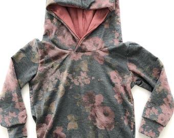 Dusty Rose Hoodie, french terry hoodie, baby girl toddler girl hoodie