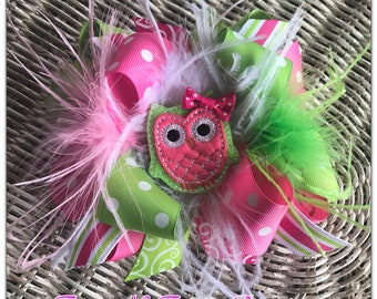 Felt Owl Boutique Hairbow