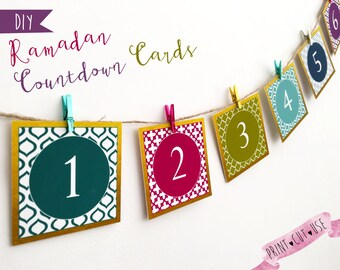 Ramadan 30 days, Printable Ramadan decorations, Ramadan decor, Paper Ramadan decorations, Printable duaas, Ramadan printable calendar