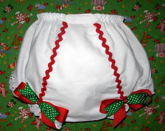 Christmas Red Rick Rack Bloomers