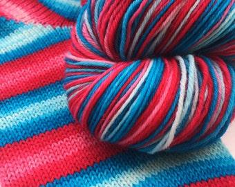 Hand dyed self striping merino sock yarn - Swim-Up Bar