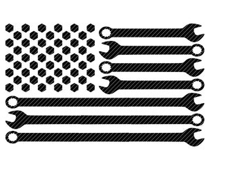 Mechanic tool flag U.S.A. America svg jpg png clipart design vector vinyl graphics cut files decal cricut silhouette