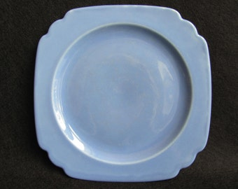 Special Blue Plate, Homer Laughlin Riviera China, Depression Era