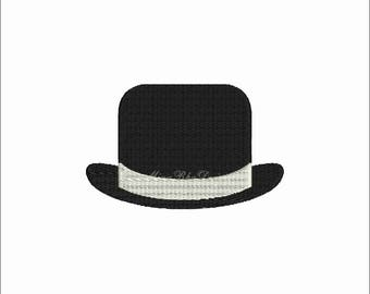 Top Hat Mr Hat Machine embroidery design Instant Download