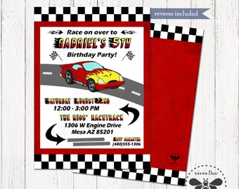 Nascar invitations etsy race car birthday invitation printable digital nascar party invite filmwisefo Choice Image