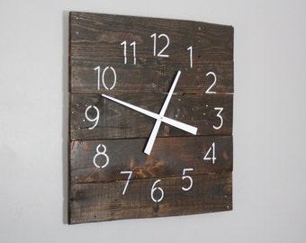 Reclaimed Wood Wall Clock.