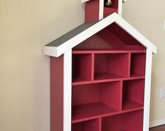 Schoolhouse / Firehouse Bookcase, Kids / Childrens Bookshelf