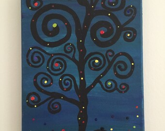 Twirly tree with lights