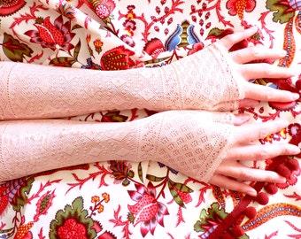 Victorian fingerless gloves or mittens. 1880 - victorian mittens - victorian mitts - antique mitts - antique mittenes - fingerless gloves