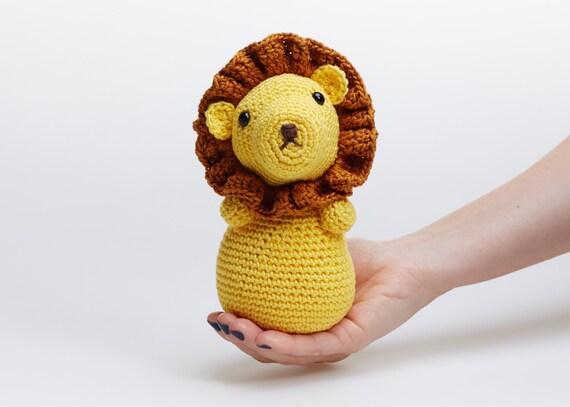 Amigurumi Leon : Crochet amigurumi de lindos animales juguete del bebé selva
