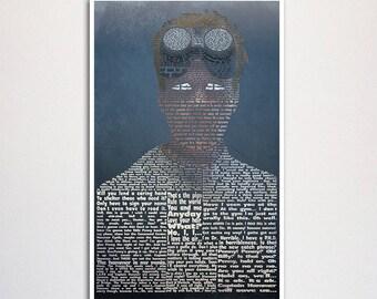 "Doctor Horrible word art print - 11x17"""