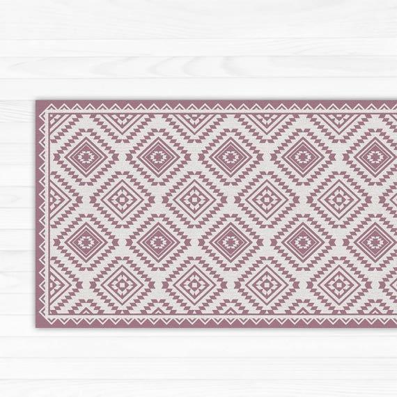 tapis de sol en vinyle linol um tapis avec rose motif. Black Bedroom Furniture Sets. Home Design Ideas
