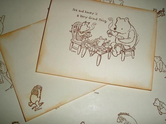 Winnie the Pooh Invitation-Tea party invitation-Baby Shower