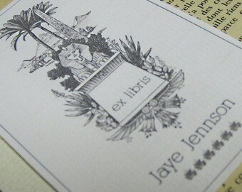 PERSONALIZED BOOKPLATE with  Ex Libris Egyptian Sphinx - set of 24