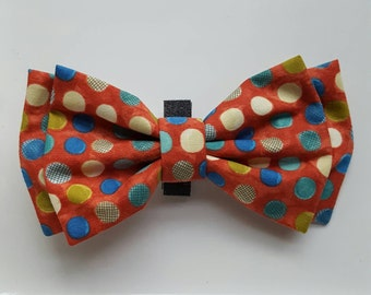 Polkadot Dog Bowtie, Red Dog Bowtie, Colorful Dog Bowtie