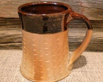 Woodfired Textured Tenmoku Mug/Cup