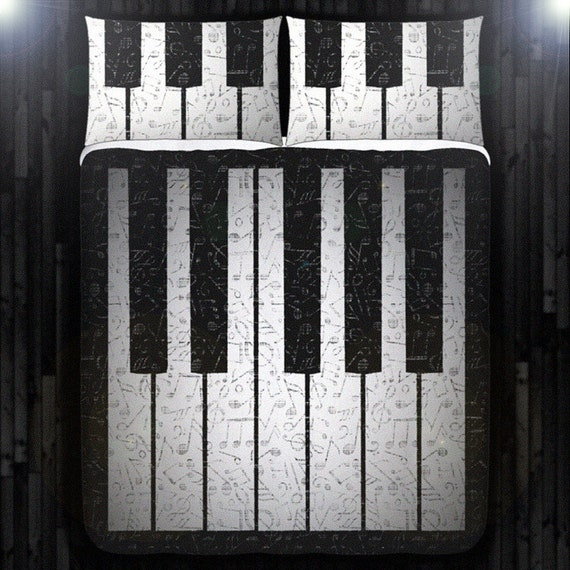 Music Note Piano Bedding Duvet Cover by DUVETCOVER