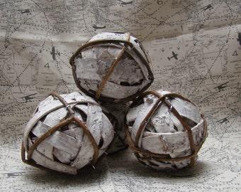 Birch Bark Balls 4'' Bowl Filler