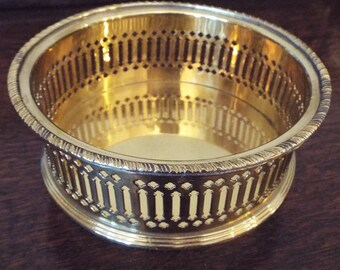 Small Vintage Polished Brass Tray