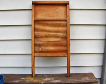 All Wood Washboard from WW ll Era / Rare Antique Washboard 1940's