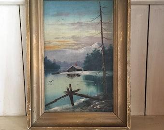Lake Scene Painting