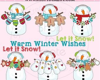 Digital Silly Snowmen Clip Art Collection- Cheryl Seslar - Snowman Clipart
