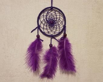 Dream catcher, handmade dreamcatcher, dreamcatcher, purple, wall decor / actual 20 cm