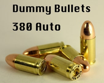 380 Auto Dummy Bullets / Replica Dummy Rounds Bullet Casings Shell Lot Of Ten 4 making Steampunk Victorian Military Police Jewelry Crafts