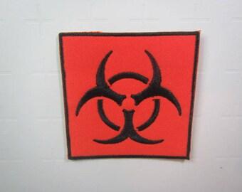 Bio-hazard Symbol – Biological Hazard Symbol – Iron on patch