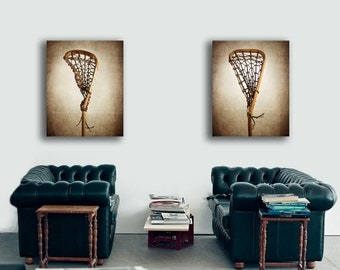 FLASH SALE til MIDNIGHT Set of two Vintage Lacrosse Sticks  Photo prints , Decorating Ideas, Wall Decor, Wall Art,  Sports Decor, Vintage La