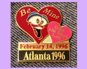 1996 Valentine's Day Olympic Pin ~ Mascot IZZY