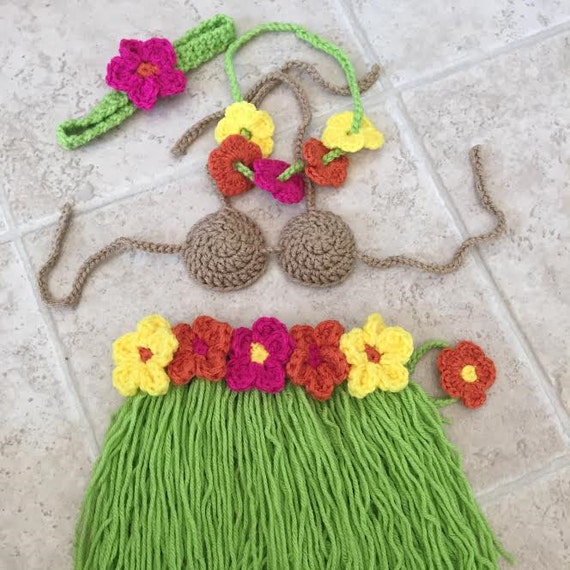 PATTERN for Hawaiian Newborn Outfit, Hula outfit, newborn photo prop ...