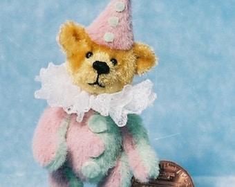 Fatso Clown Bear - Miniature Teddy Bear Kit - Pattern - by Emily Farmer