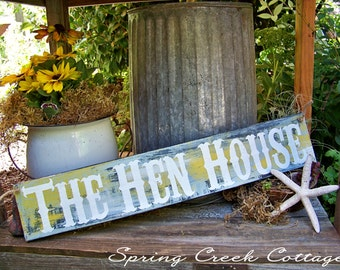 Chicken, Uniquely Handpainted Signs, The Hen House, Chicken Signs, Coop Decor, Farmhouse, Rustic, Handpainted Sings, Farm, Chicken Decor