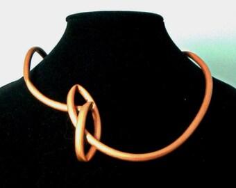 Sculptural Copper Necklace
