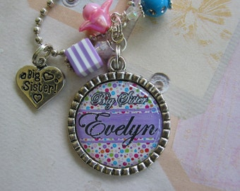 personalized Big, Middle, Little Sister Necklace, Pendant