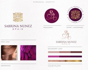 Luxury Branding Kit forJewelry, Logo Package for Interior Design, Custom Logo, Elegant, Modern, Rose Gold Foil Logo, Sophisticated Logo