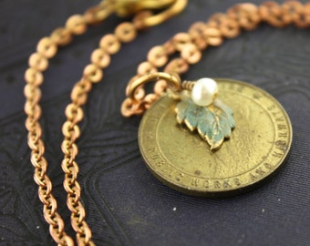 Old Man of the Mountain New Hampshire Token Necklace