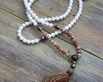 Mala necklace, mala, mala beads 108, prayer beads, tassel necklace, mala beads, 108 mala beads, japa mala, yoga jewelry, buddhist necklace