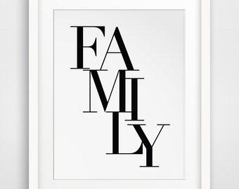 Family Sign, Family Art Print, Family Art, Family Artwork, Family Printable, Family Print, Family Room Decor, Family Sign Home Decor