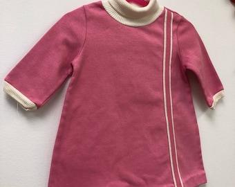 Kids 1960s Mod Dress Vintage Girls Aline Mini Tunic Dress Children's Size 2T