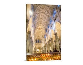 St Patrick Cathedral, NYC Art, Church Architecture, New York Photograph, Manhattan Gift, New York Print, Church Art, NYC Gift, New York Art