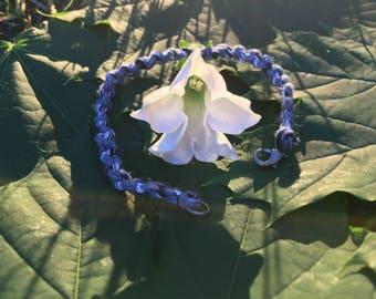 Double-Knot Blue, Black, and White Bracelet